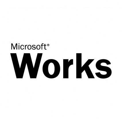 free vector Microsoft works