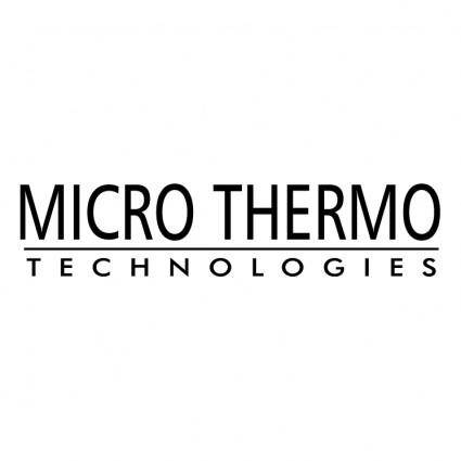 Micro thermo technologies