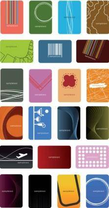 free vector Both the simple and the trend card vector