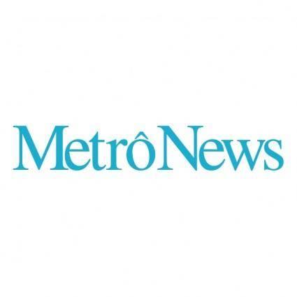free vector Metro news