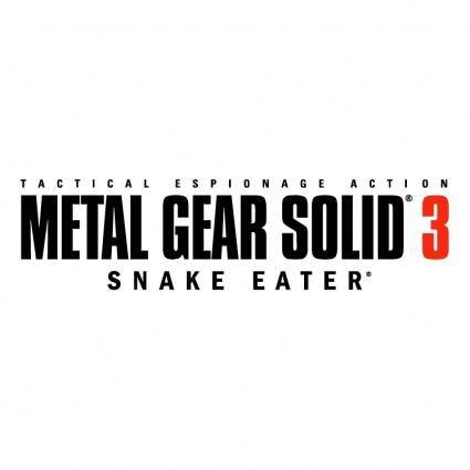 free vector Metal gear solid 3 snake eater
