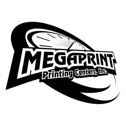 free vector Megaprint printing centers inc