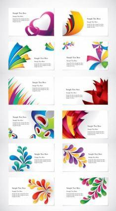 Colorful card template vector