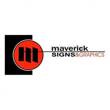 free vector Maverick signs and graphics inc