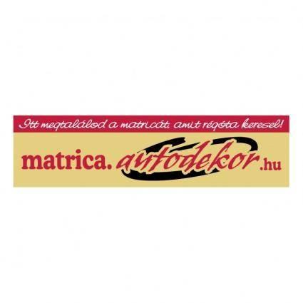free vector Matricaautodekorhu