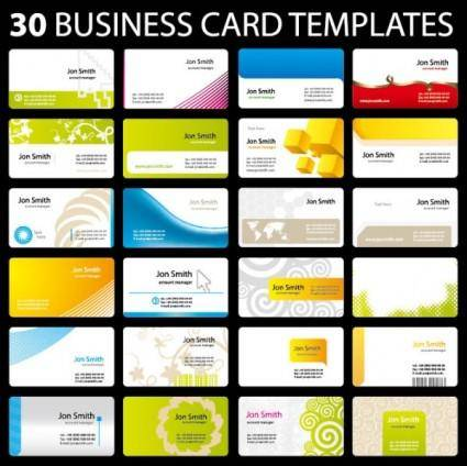 free vector 30 of practical card template vector