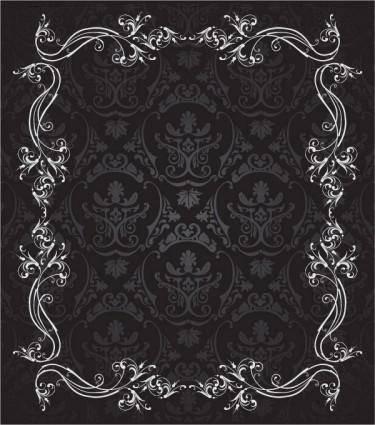 European gorgeous lace vector