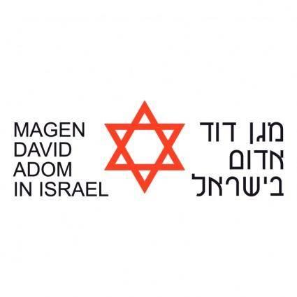 free vector Magen david adom
