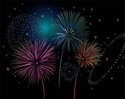 free vector Colorful fireworks vector