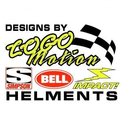 free vector Logomotion helment designs