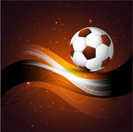 Dynamic football 01 vector