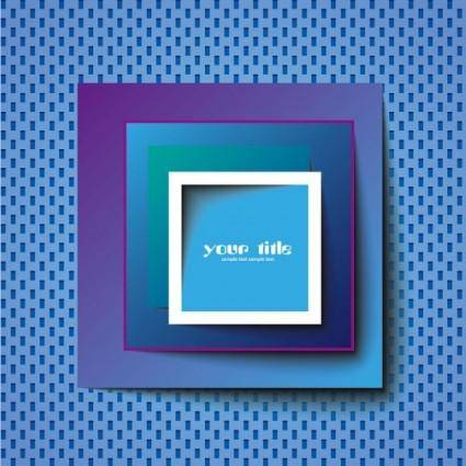 Blue square advertising vector