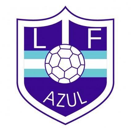 Liga de futbol de azul