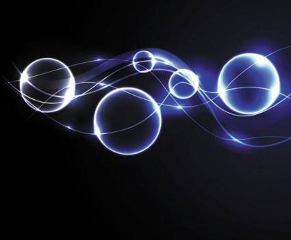 free vector Dynamic blue halo effects 02 vector