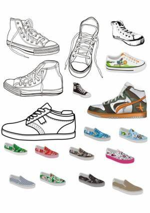 free vector Canvas shoes vector
