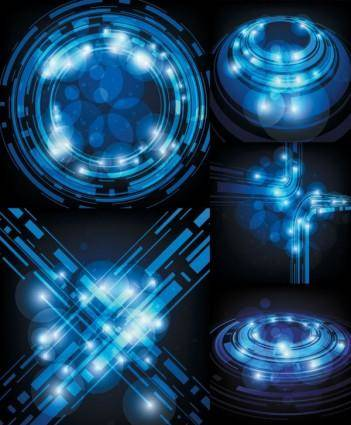 Technological sense blue light vector