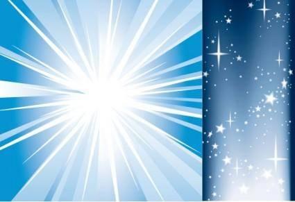 free vector Light and starlight vector