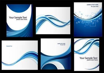 free vector Dynamic lines of the blue card template vector