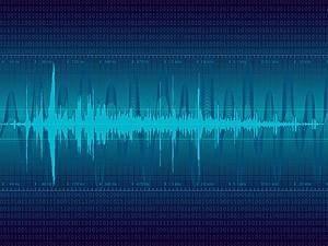 free vector Digital sound wave vector