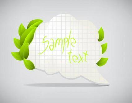 Leaves the dialog box 03 vector