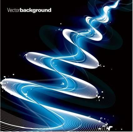 Gorgeous dynamic flow line 04 vector