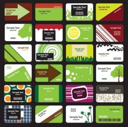 free vector Green theme card template vector