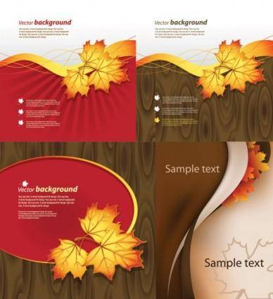 free vector Autumn theme vector
