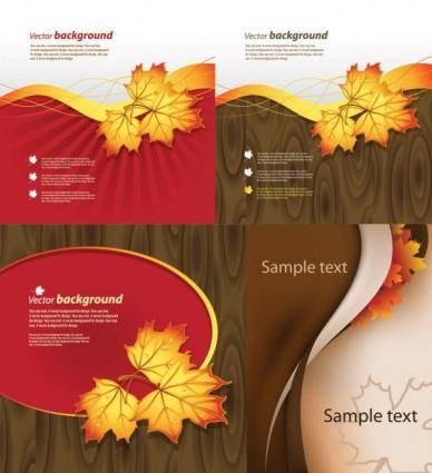 free vector Autumn theme vector