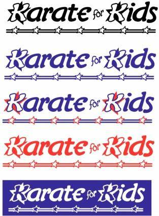 free vector Karate for kids