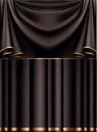 free vector Black cloth vector