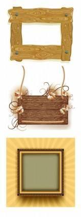 3 wood frame border clip art