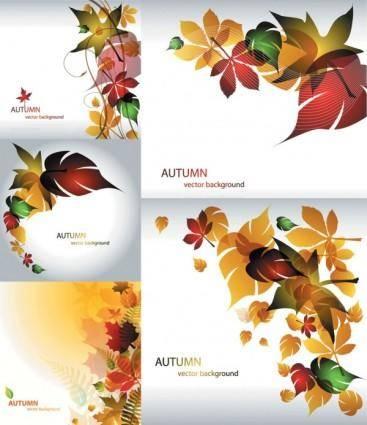 free vector Maple leaf theme vector