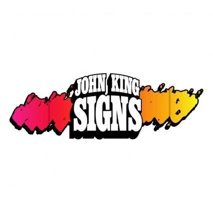 free vector John king signs