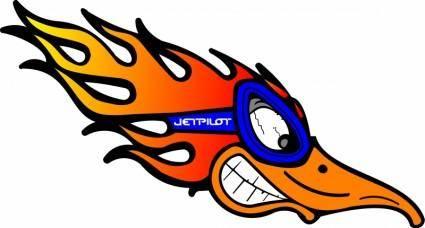free vector Jetpilot bird