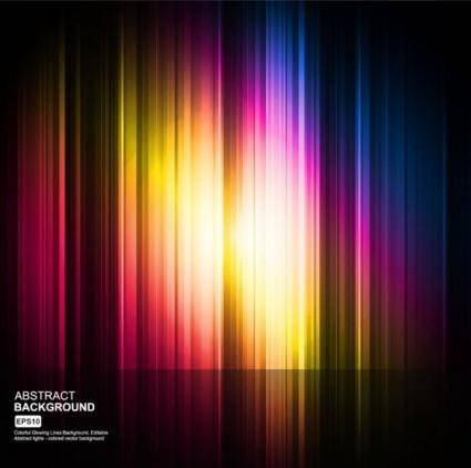 Colorful eyecatching dynamic glare 02 vector
