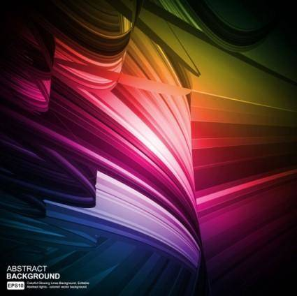 free vector Colorful eyecatching dynamic glare 03 vector