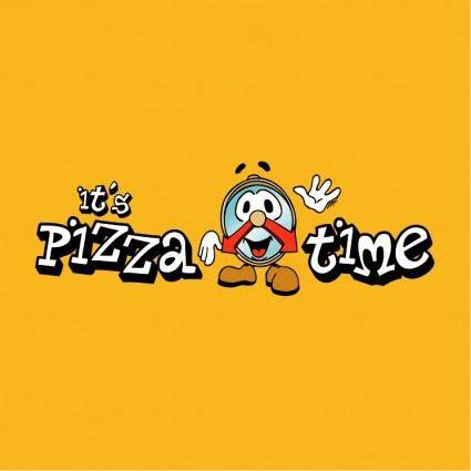 free vector Its pizza time