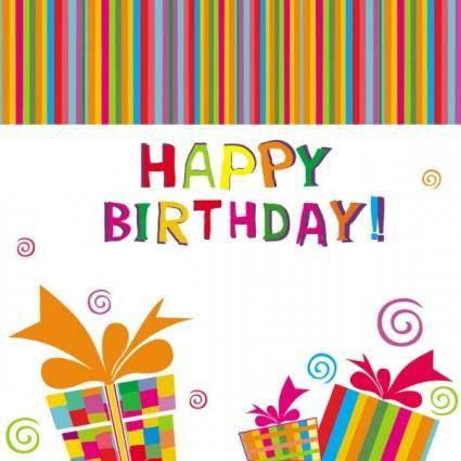 free vector Exquisite handpainted elements birthday 03 vector