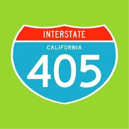free vector Interstate 405