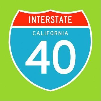 free vector Interstate 40