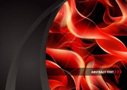 Red smoke flame vector clip 9