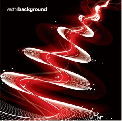 free vector Dynamic flow gorgeous line 05 vector