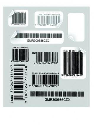 Creative and practical bar code label vector 1