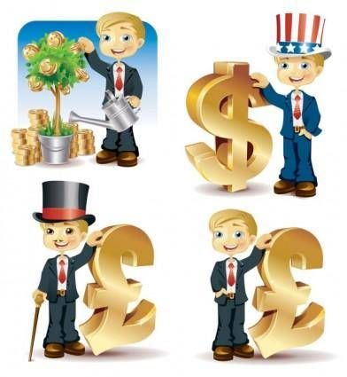 free vector Financial illustrations vector