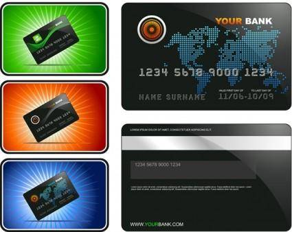 Bank card template vector