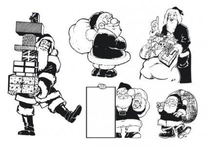 Monochrome santa atlas is