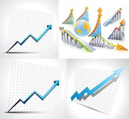 Business statistics table vector