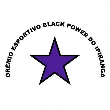 free vector Gremio esportivo black power de sao paulo sp