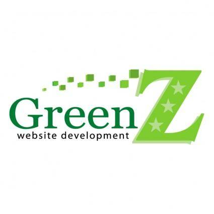 free vector Green z website development