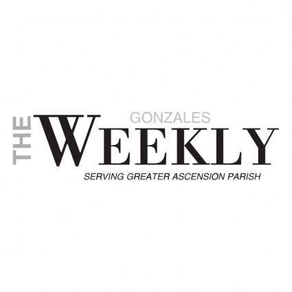 free vector Gonzales weekly